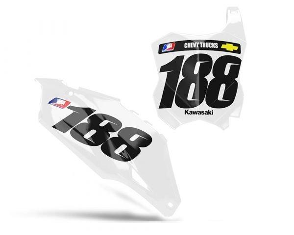 Kawasaki Number Board Graphics
