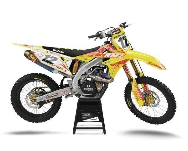 Yellow Custom Suzuki Graphics Kit
