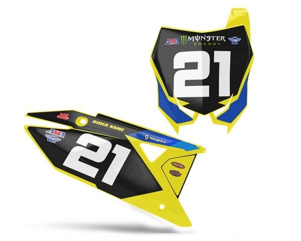Suzuki Yellow Custom Background Decals