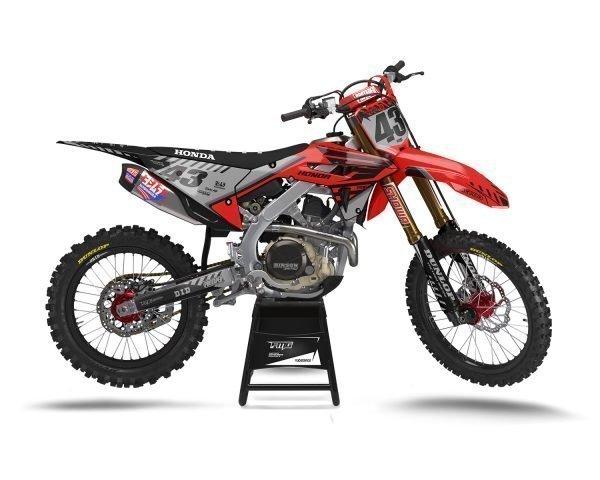 Honda Custom Grey Black Motocross Decals