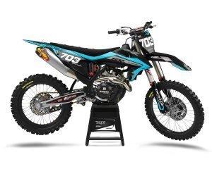 Blue KTM MX Graphic Kit