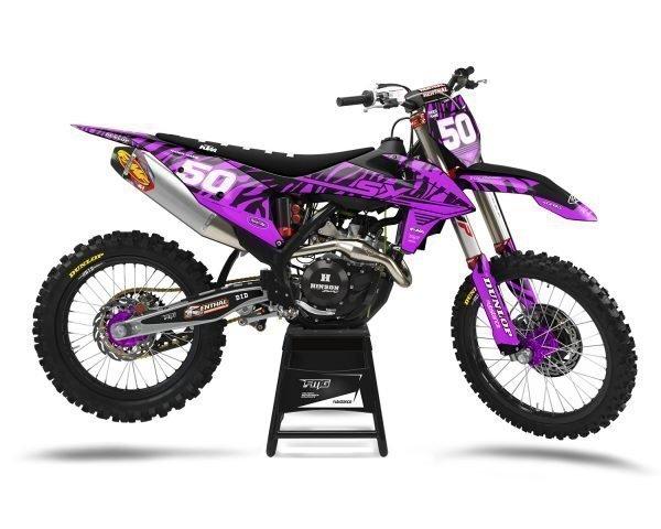 Purple KTM MX Decals