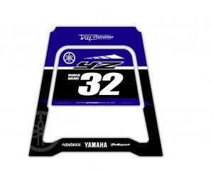 Blue Yamaha Polisport MX Stand
