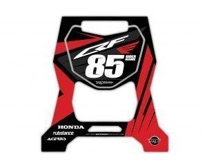 Honda Red MX Bike Stand Stickers