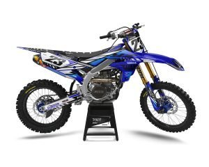 Blue Yamaha Custom Dirt Bike Stickers