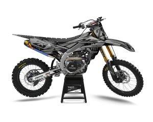 Grey Yamaha Motocross Decals