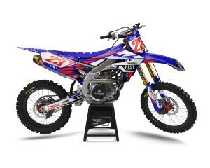 Red Yamaha Custom Motocross Graphics