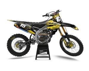 Custom Yamaha Yellow Decals