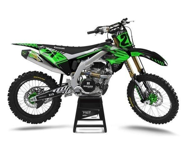 Black Custom Kawasaki Motocross Decals