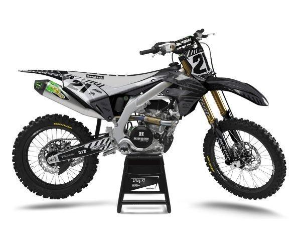 Grey Kawasaki Motocross Decals