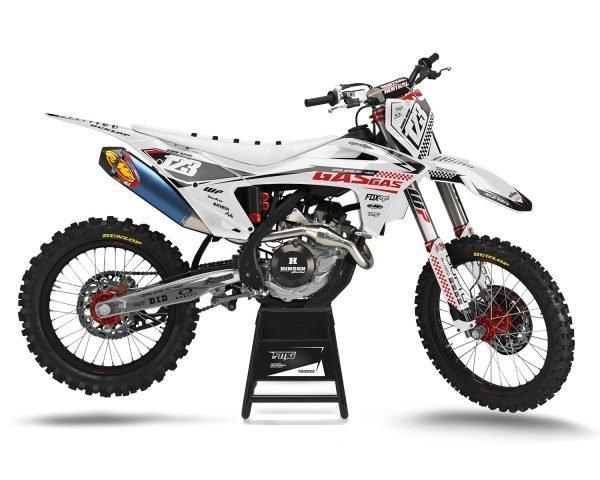 White GAS GAS Custom Motocross Decals